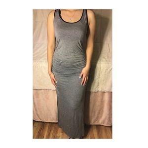 Grey summer maxi dress
